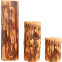 Moniwood Moni Wood Dikey Silindir Mumluk 3'Lü Set