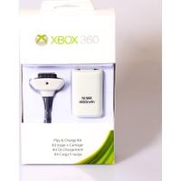 Playaks Microsoft Xbox 360 Şarj Kiti Batarya Şarj Aparatı 4800 Mah Beyaz