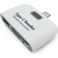 Alfais 4941 Type C Usb 3.1 Kart Okuyucu Micro Usb Sd Card Reader Çevirici
