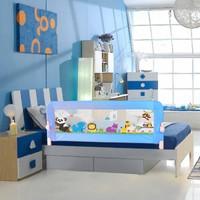 Evokids Animals Katlanabilir Çocuk Yatak Bariyeri 140X52 Cm - Mavi
