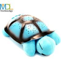 Pratik Türkçe Ninnili Kaplumbağa Gece Lambası (Mavi)