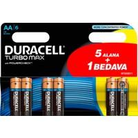Duracell Turbo Max Alkalin AA Kalem Pil (5+1) 6'lı Paket