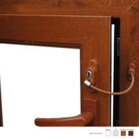 Penkid Anahtarlı Pvc Pencere Emniyet Kilidi (5 Adet) / Açık Kahve