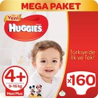 Huggies Bebek Bezi Maxi Plus 4+ Beden Mega Paket 160 Adet