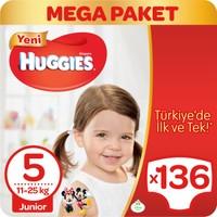 Huggies Bebek Bezi Junior 5 Beden Mega Paket 136 adet