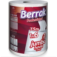 Berrak Pro Jumbo Kağıt Havlu 75m (6'lı Sarım)