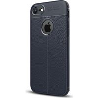 Gpack Apple iPhone 7 Kılıf Niss Tarz Deri Görünüm Silikon +Kalem + Cam