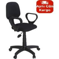 Türksit Kosmo Eko Kollu Çalışma Koltuğu (Suni Deri-Siyah)