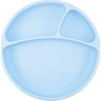 Oioi Porsiyon Vakum Tabanlı Silikon Tabak (Mavi)