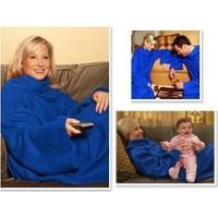 Pratik Giyilebilir Kollu Battaniye - Mavi
