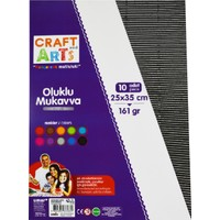 Craft And Arts Oluklu Mukavva Metalik 25X35 10'Lu Karışık Poşet