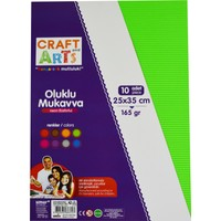 Craft And Arts Oluklu Mukavva Fosforlu 25X35 10'Lu Karışık Poşet