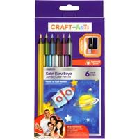 Craft And Arts Kuru Boya Jumbo Metalik 6'lı Paket