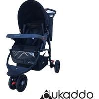 Dukaddo Jogger 3 Teker Bebek Arabası Siyah Bj-D143S