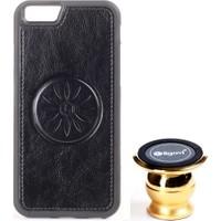 Ligovi Apple iPhone 6/6S Uyumlu Car Popular Araç İçi Tutuculu Mıknatıslı Silikon Kılıf