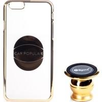 Ligovi Apple iPhone 6/6S Uyumlu Car Popular Araç İçi Tutuculu Mıknatıslı Şeffaf Kılıf