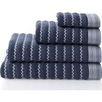 Dost Tekstil Pamuklu MARE Lacivert 4'lü Yüz Havluları