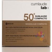Cumlaude Lab Sunlaude Compacto Spf 50 10 gr Medium Pudra