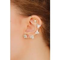 E-Bijuteri Zirkon Parlak Taşlı Kulak Arkası Bayan Küpe 520153