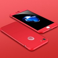 Case 4U Apple iPhone 6 / 6S 360 Derece Korumalı Tam Kapatan Koruyucu Kılıf Kırmızı