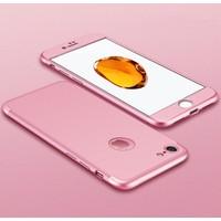 Case 4U Apple iPhone 6 / 6S 360 Derece Korumalı Tam Kapatan Koruyucu Kılıf Rose Gold