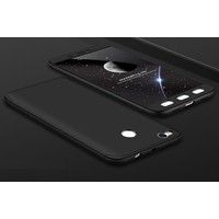 Case 4U Xiaomi Redmi 4X 360 Derece Korumalı Tam Kapatan Koruyucu Kılıf Siyah