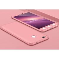 Case 4U Xiaomi Redmi 4X 360 Derece Korumalı Tam Kapatan Koruyucu Kılıf Rose Gold