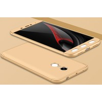 Case 4U Xiaomi Redmi Note 4X 360 Derece Korumalı Tam Kapatan Koruyucu Kılıf altın