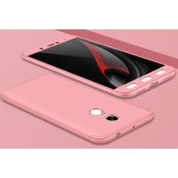 Case 4U Xiaomi Redmi Note 4X 360 Derece Korumalı Tam Kapatan Koruyucu Kılıf Rose Gold*