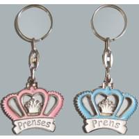 Elitetime Anahtarlık Kral Taçlı Prens-Prenses Pembe P10 - Ar4