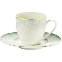 Kütahya Porselen Bone Kalipso 927914 Desen Kahve Fincan Takımı