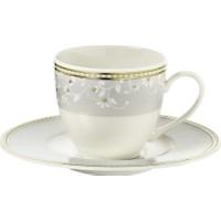 Kütahya Porselen Bone Kalipso 9316C Desen Kahve Fincan Takımı