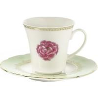 Kütahya Porselen Bone Olympos 9546 Desen Çay Fincan Takımı