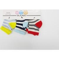 Bumbo Çizgili 3'lü Bebek Çorabı