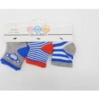 Bumbo Maymun 3'lü Erkek Bebek Çorabı