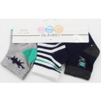 Bumbo Polo 3'lü Bebek Çorabı