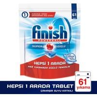 Finish Bulaşık Makinesi Deterjanı Hepsi Bir Arada Tablet 55'li Çamaşır Suyu Katkılı