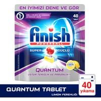 Finish Powerball Quantum Bulaşık Makinesi Deterjanı 40 Tablet Limon