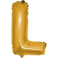PartiBulutu L Harf Altın Folyo Balon 40 cm