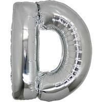 PartiBulutu D Harf Gümüş Folyo Balon 40 cm