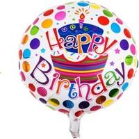 PartiBulutu Happy Birthday Puantiyeli Folyo Balon