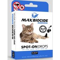 Max Biocide Kediler İçin Bitkisel Dış Parazit Damlası (Margosa) 5X1Ml