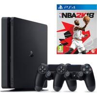 Sony Playstation 4 Slim 500Gb + 2. Kol + Nba 2018 (İthalatçı Garantili)