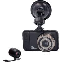 Solaner Sl92 Fullhd 1080P Çift Kamera Araç İçi Güvenlik Kamerası
