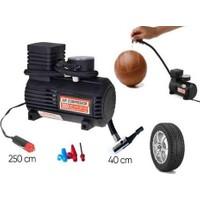 Wildlebend Hava Kompresörü 300 PSI Autokit: Araç Çakmak Girişli + Herşeyi Şişirmek İçin
