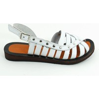 Lepi Hakiki Deri Kız Çocuk Sandalet-Beyaz-113362-01