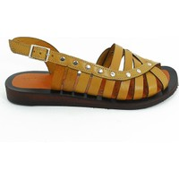 Lepi Hakiki Deri Kız Çocuk Sandalet-Taba-113362-02