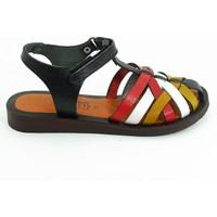 Lepi Hakiki Deri Kız Çocuk Sandalet-Siyah-113299-04