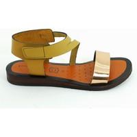 Lepi Hakiki Deri Kız Çocuk Sandalet-Taba-113364-01