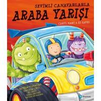 """Sevimli Canavarlarla Araba Yarışı"" (3+ Yaş Hikaye Kitabı)"